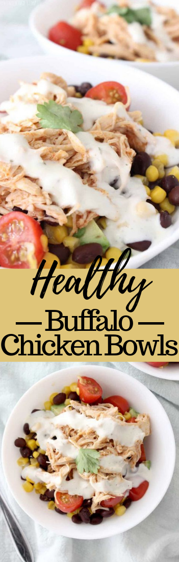 HEALTHY BUFFALO CHICKEN BOWLS #healthyrecipe #food