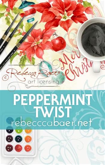 Christmas art for licensing | RebeccaBaer.net