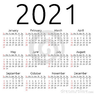 Happy New Year 2021 Calendar