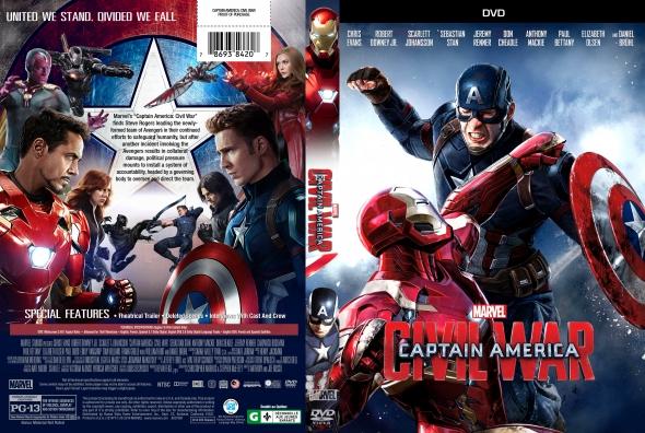 Capitán América: Civil War – Castellano, Inglés – DVD9