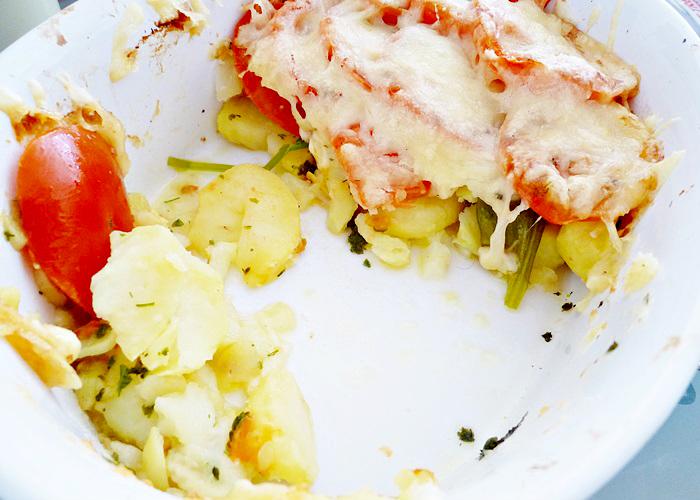 Kartoffelgratin mit Bärlauch