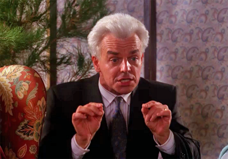 Ray Wise als crazy Leland Palmer in TWIN PEAKS (1990)