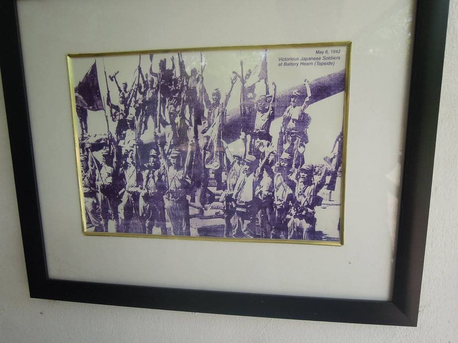 Photo of Japanese soldiers at Corregidor Island during the war