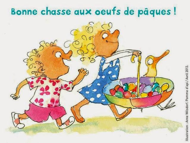 La fête de Pâques - życzenia 5 - Francuski przy kawie