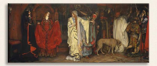 Edwin Austin Abbey, Kral Lear Birinci Bölümden tablosu