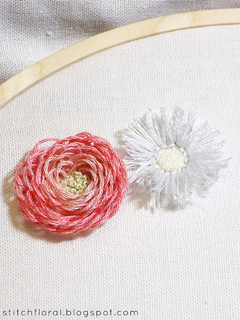 Looped blanket & turkey stitch flowers tutorial