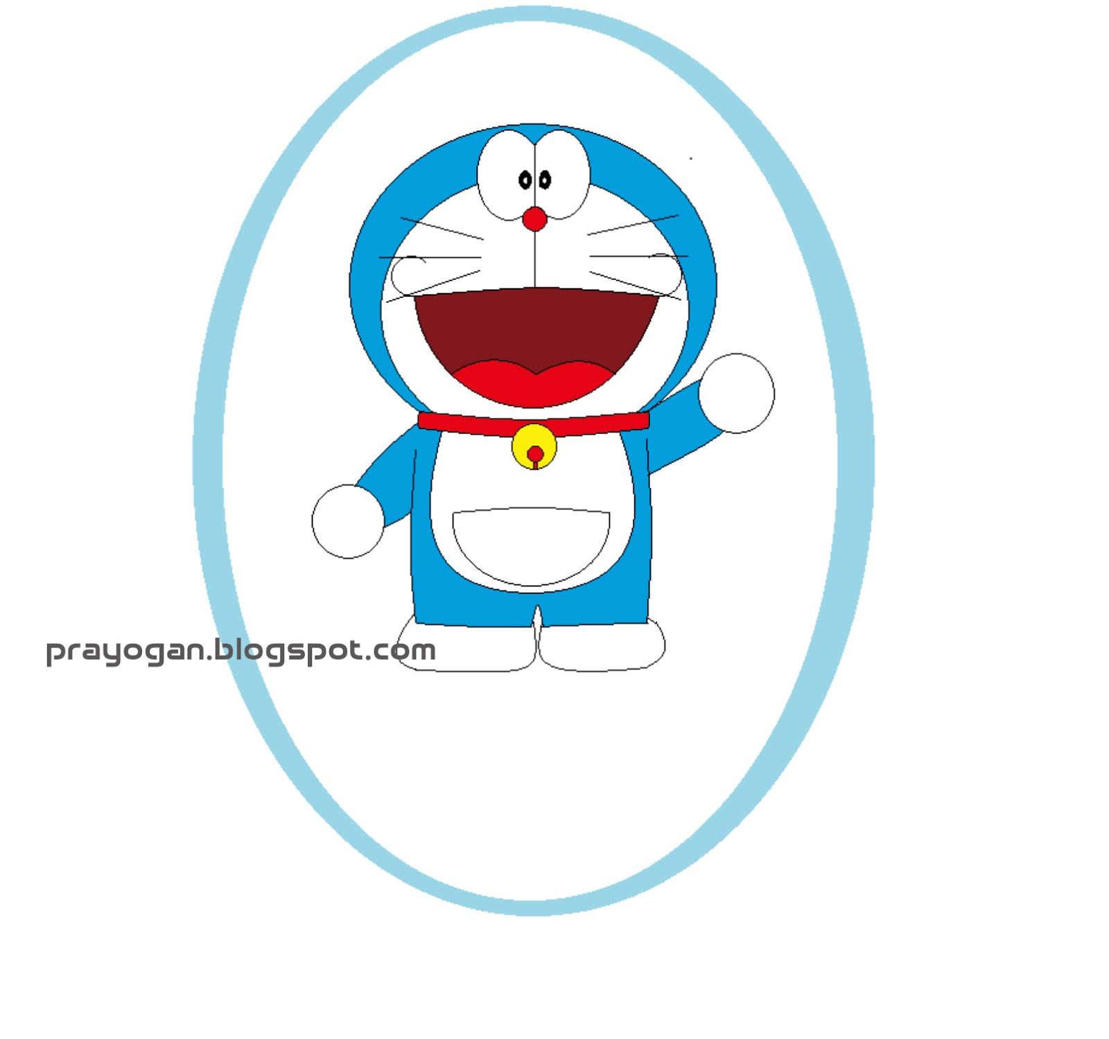 Menggambar Doraemon Dengan Paint di Komputer  Grafika