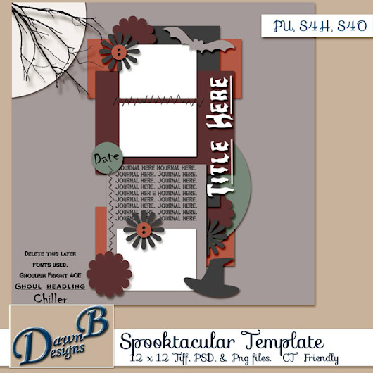 Freebie Friday: Spooktacular Template