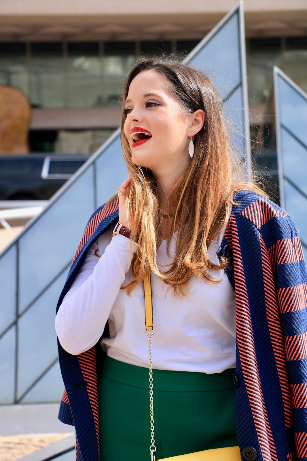 Nyc fashion blogger Kathleen Harper showing how to wear color