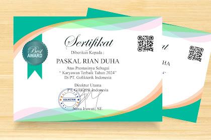 Sertifkat Docx (Word) Gratis Mudah Edit- Cocok Untuk Sertifkat Penghargaan, Piagam Penghargaan dan Sertifkat Seminat