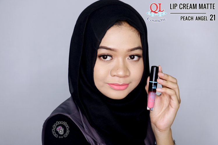 QL Lip Cream Matte 21 Peach Angel