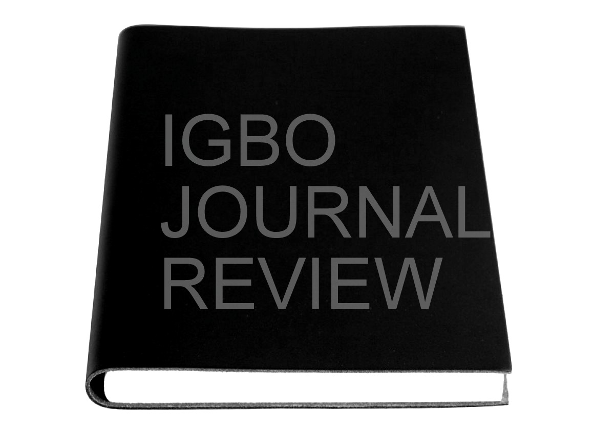 IGBO JOURNAL REVIEW