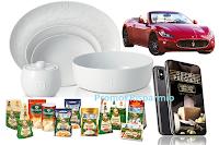 Logo Parmigiano Reggiano ''Premi Pregiati: porcellane da collezionare o da vincere, ma anche smartphone e Maserati GranCabrio