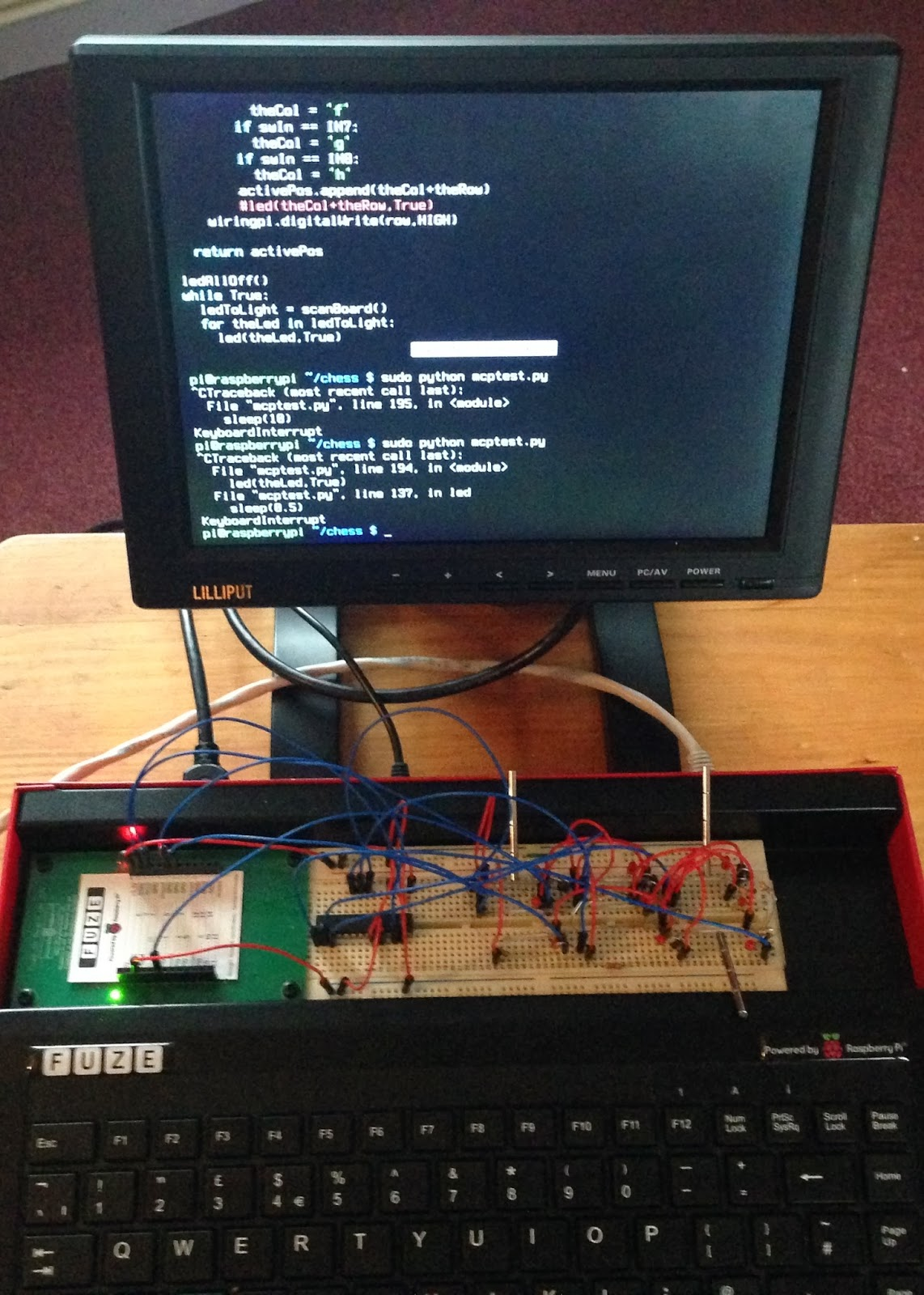 Just Another Day Pi Chess Wiringpi2 Python I2c The Real Breadboard