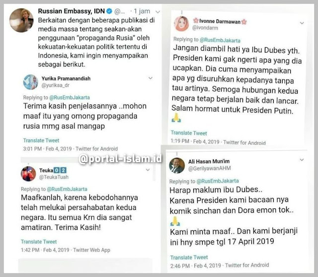 Asli Bikin Ngakak! Ungkapan Maaf Warganet Kepada Dubes Rusia Gara-gara Omongon Jokowi