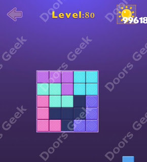 Cheats, Solutions, Walkthrough for Move Blocks Easy Level 80