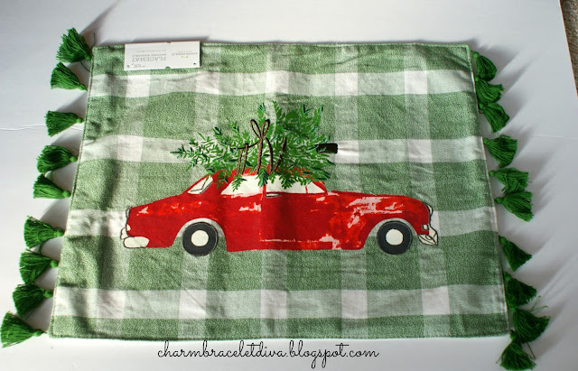 Green buffalo check tassels Christmas placemat Target