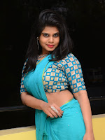 Alekhya new sizzling photos in saree-cover-photo