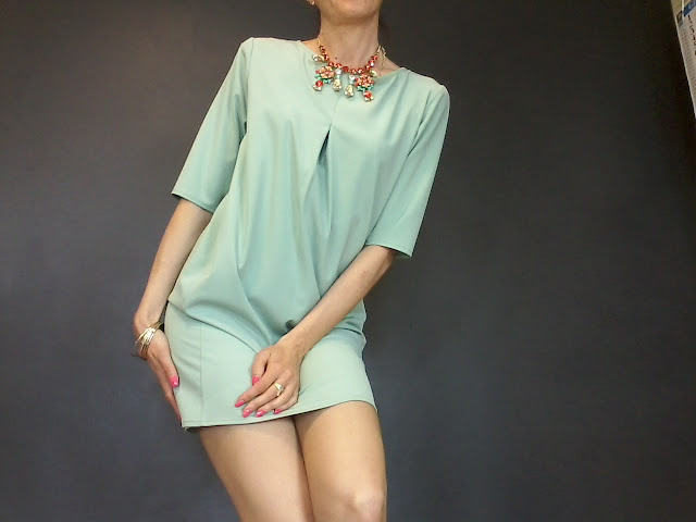 abito color tiffany