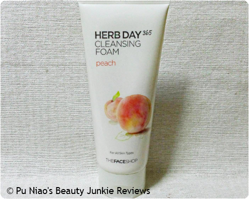 The Face Shop&#58 Herb Day 365 Cleansing Foam Peach