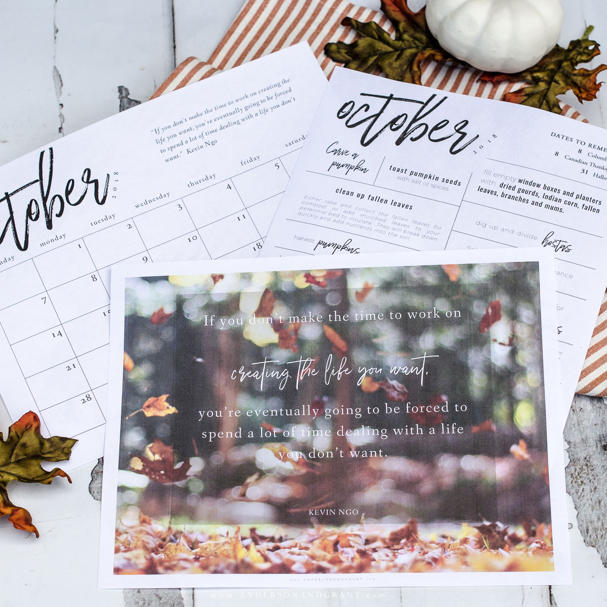Free Printables for October to Stay Inspired and Organized