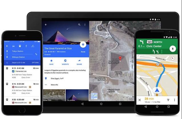 خرائط جوجل يحصل على مزايا جديدة للتنقل والسفر