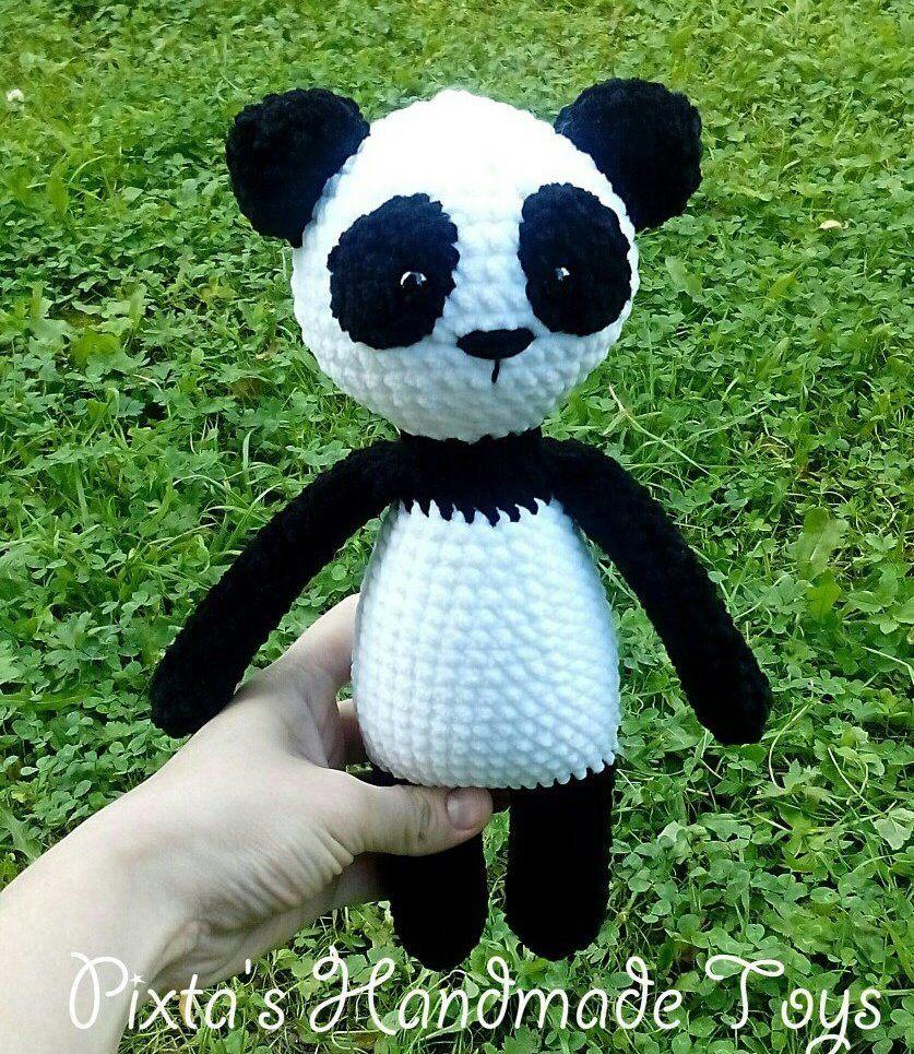 Pineapple Panda crochet pattern - Amigurumi Today | 965x837