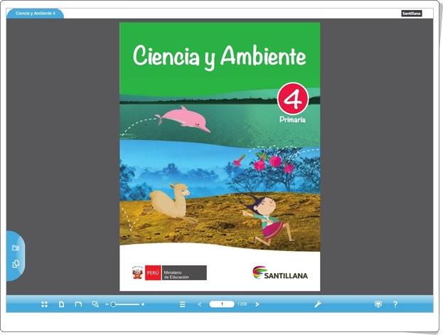 """""""Libro digital de Ciencias Naturales de 4º Primaria"""" (Editorial Santillana Perú)"""