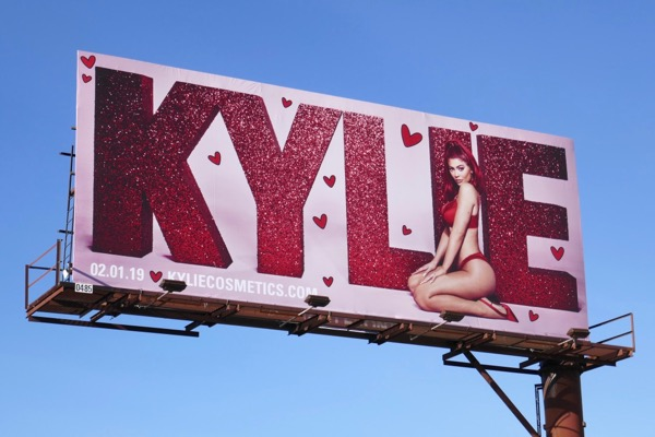 Kylie Cosmetics Valentines Day 2019 billboard