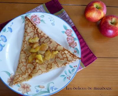 crêpe aux pommes poêlées