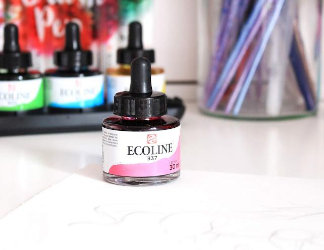 Ecoline watercolour ink, watercolour ink, ecoline ink, ink, art ink, drawing ink, art blog, art blogger
