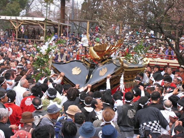 Itoigawa Kenka Matsuri (float crash battle) at Amatsu Shrine, Itoigawa City, Niigata
