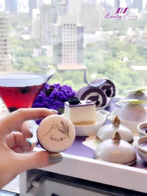 okura prestige bangkok lavender macaron