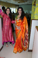 Marath Actrss Urmila Kanitkar Celetes Gudi Padwa in Orange Saree 29.JPG