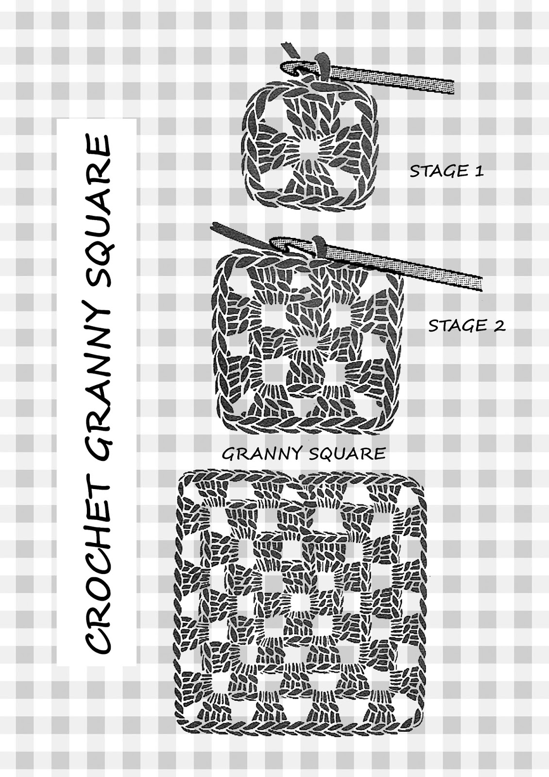 Free Crochet Pattern for Granny Squares