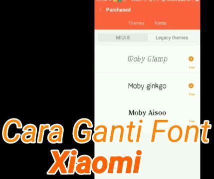 Cara mengganti font Xiaomi