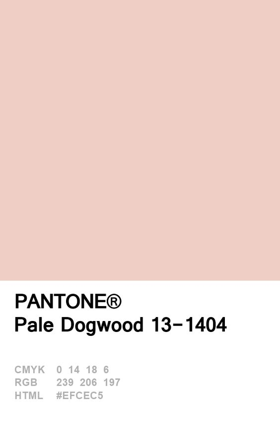 Pale Dogwood Pantone