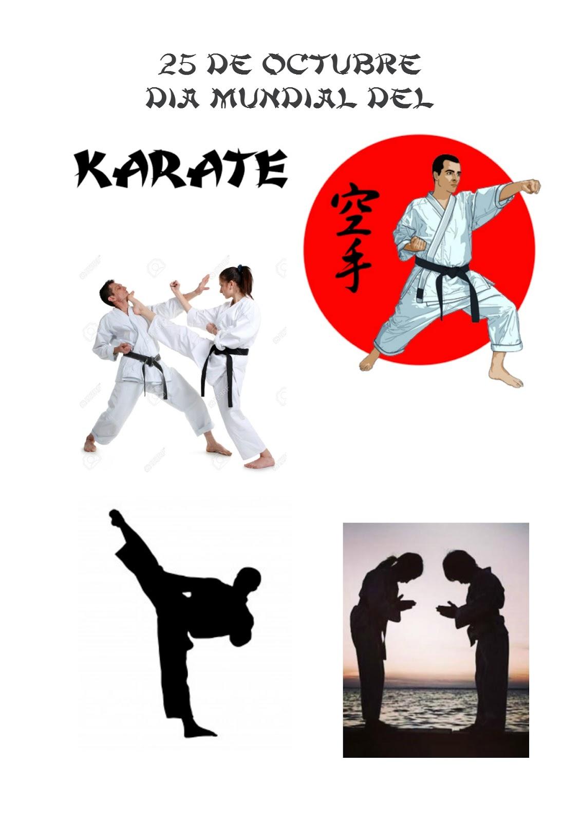 Tus Efemérides Escolares: 25 de Octubre Día Mundial del Karate