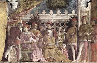 Detail from Andrea Mantegna's frescoes in the Camera degli Sposi in Mantua's Palazzo Ducale