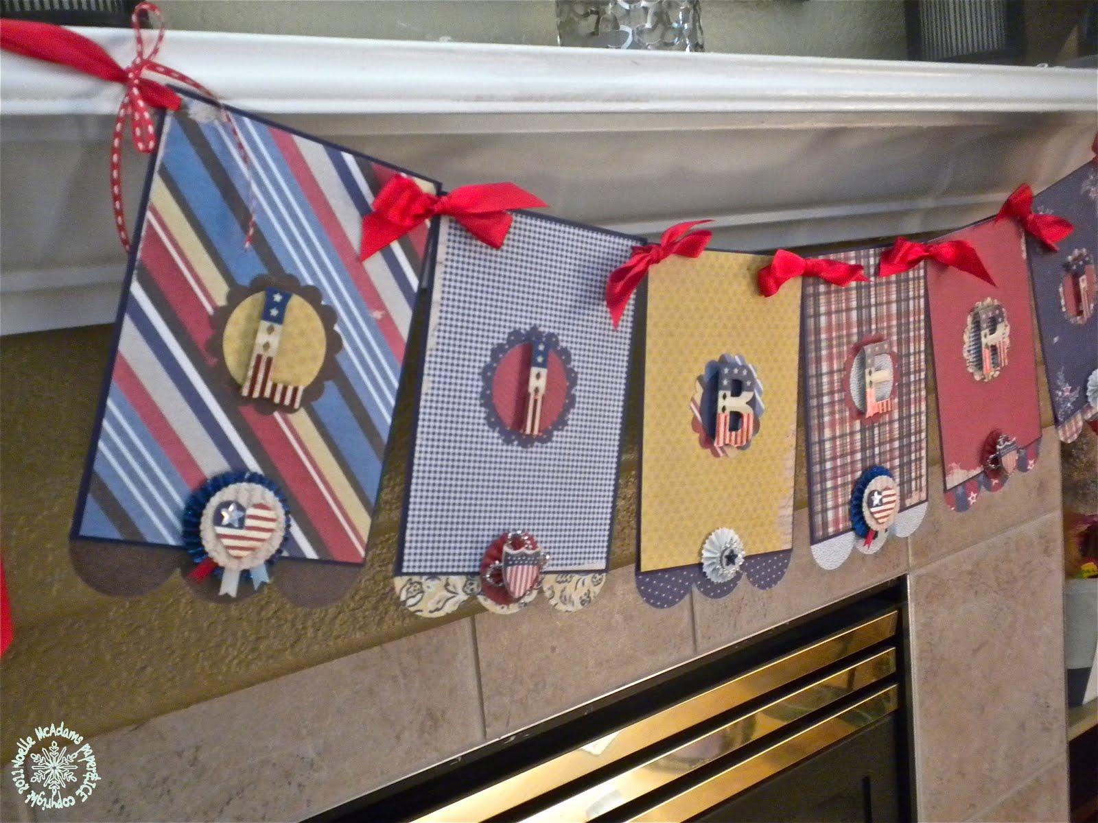 Patriotic Decor For Home: Paper & ICE: Pretty Patriotic Home Decor
