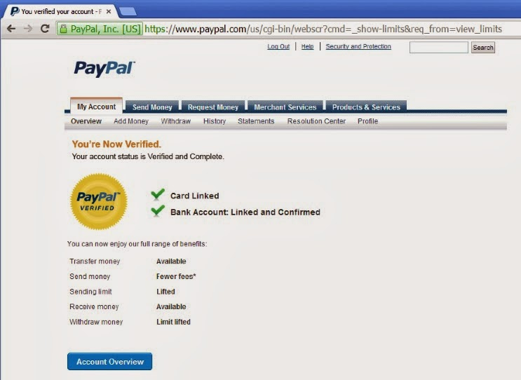 SSN, Bank account verified USA paypal accounts on sale, Over