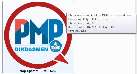 Buka dan Klik Hasil Unduhan Patch PMP Versi 1.4