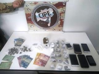 Cipe apreende drogas em Barra da Estiva