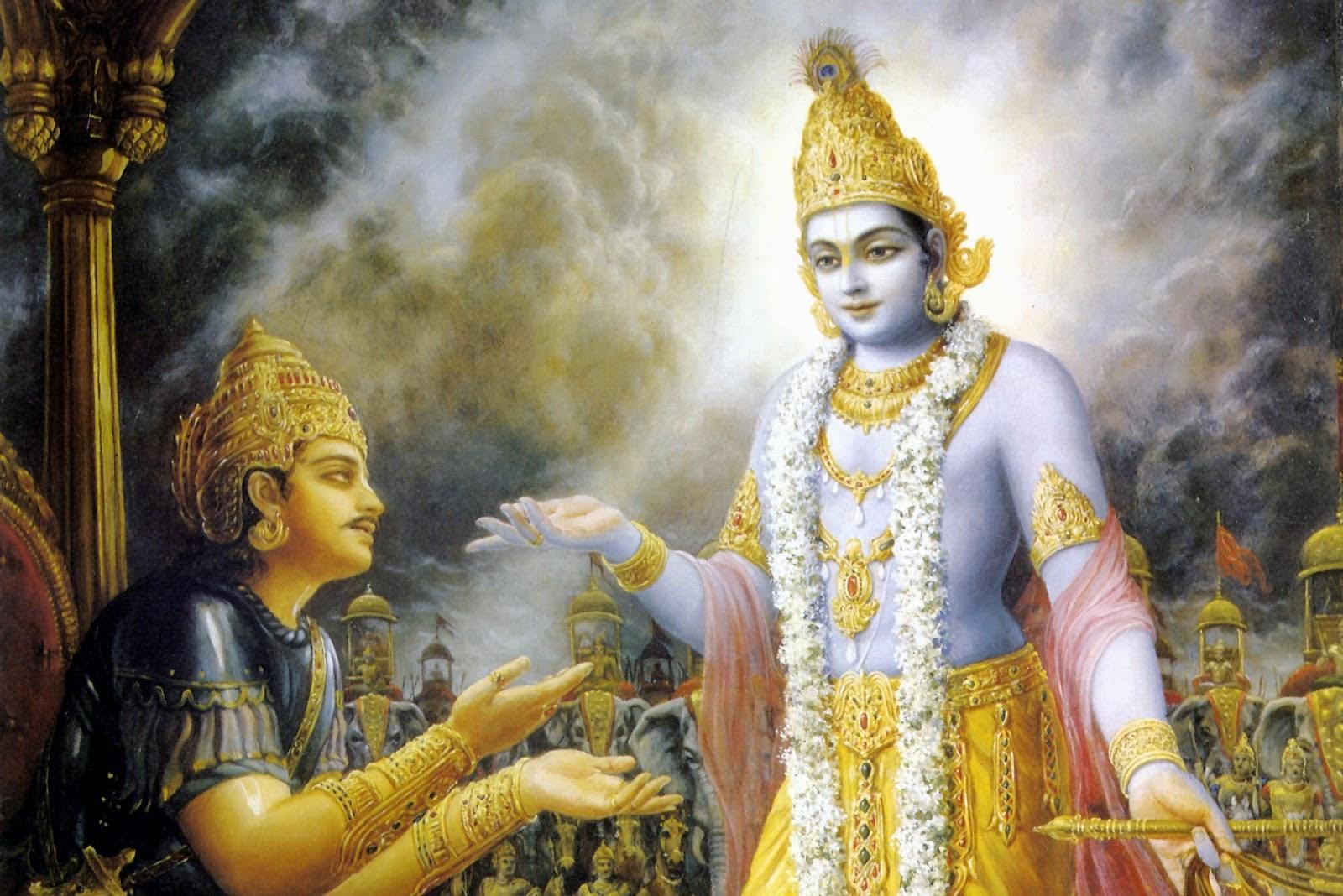 Shri Krishna Arjun yudh Hindi Story