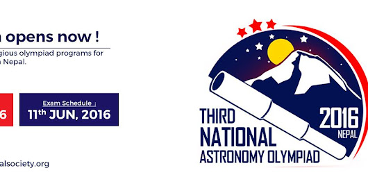 Astronomy Olympiad rescheduled for June 11, 2016 in Nepal!
