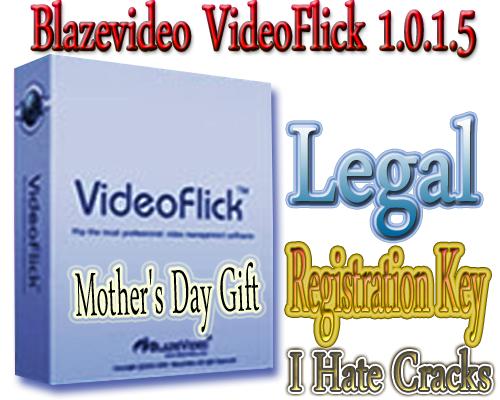 Get Blazevideo VideoFlick 1.0.1.5 With Legal Registration Key