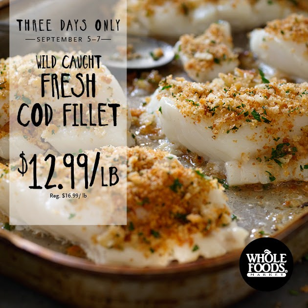 Coupon STL Whole Foods 3 Day Sale Wild Caught Fresh Cod