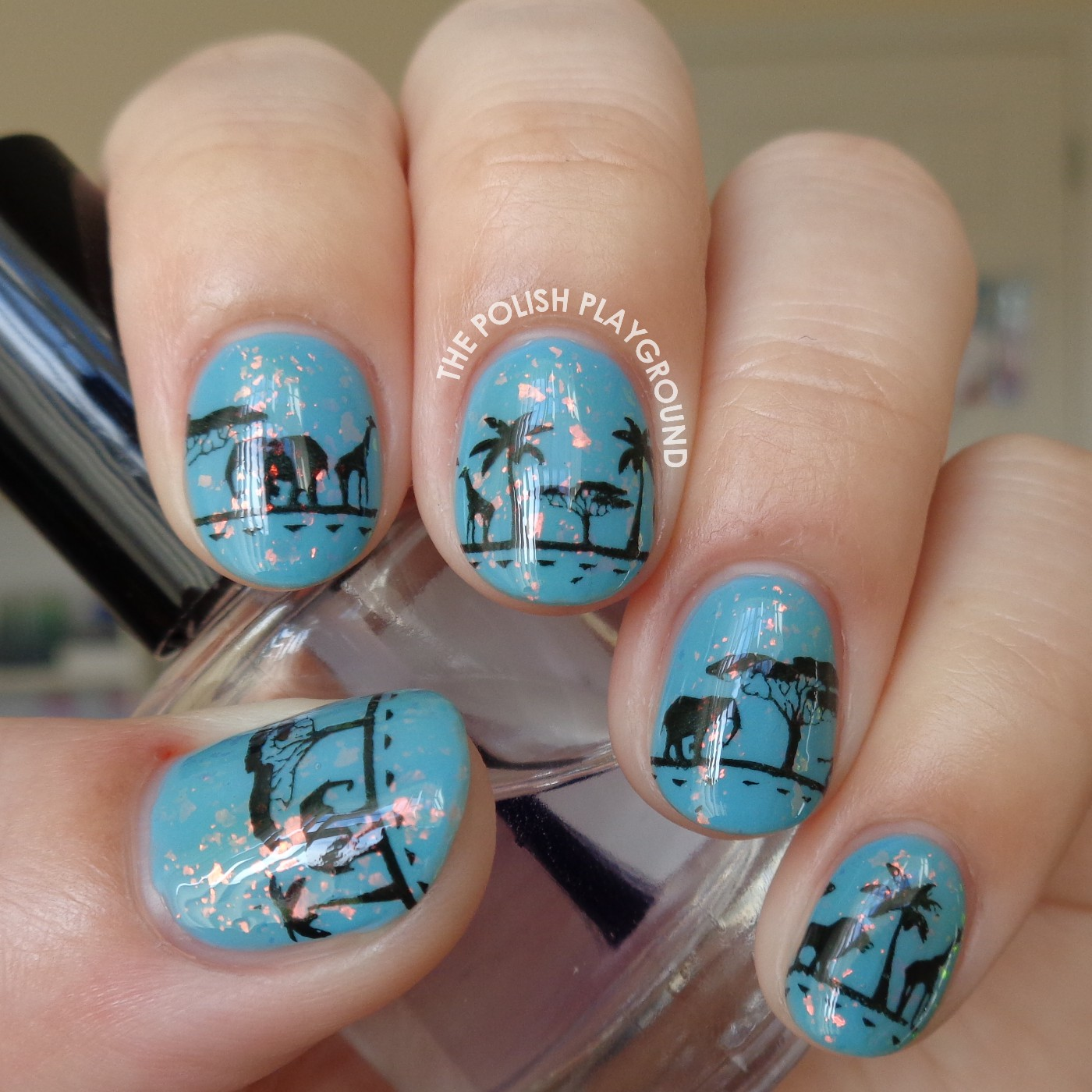 The Safari Desert Stamping Nail Art