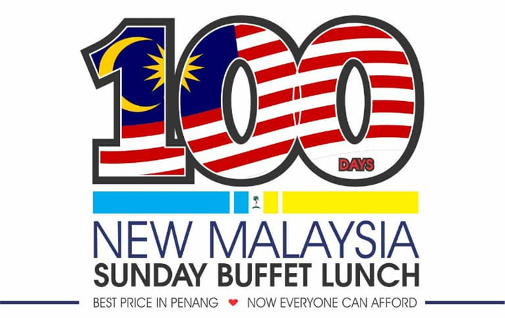 100 Days New Malaysia Sunday Buffet Lunch di Flamingo Hotel by the Beach