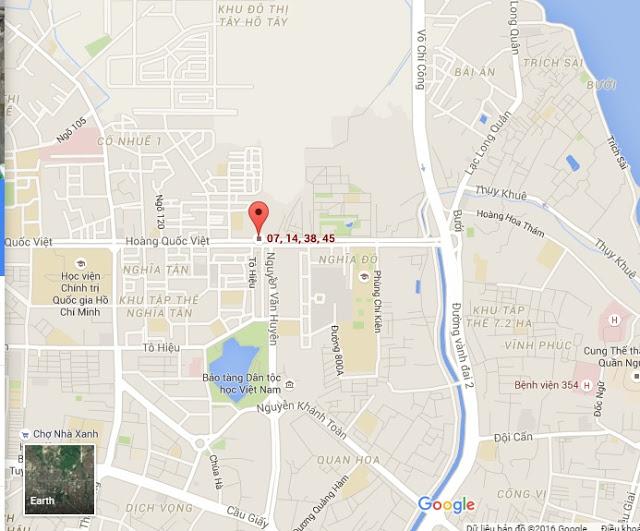 Vị trí dự án chung cư 60 Hoàng Quốc Việt
